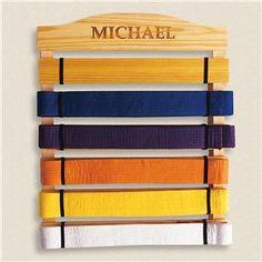 martial arts belt rack.