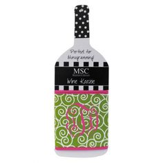 08434967b7c2 Mainstreet Collection Wine Koozies in Navy Chevron