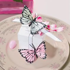Feather Butterfly Favor Boxes Idea - OrientalTrading.com