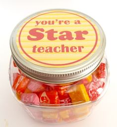 Need a quick, simple, inexpensive teacher's gift?  This is so easy. Just use Avery Full-Sheet Labels for the free printable and cut and stick.  You can also personalize your own tag using Avery Round Labels and free printable templates at avery.com/print.