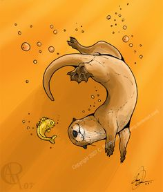 Orangey Otter by Luckwing on DeviantArt