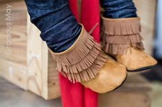 Caramel suede moccasin boots- boys Fall Winter. $53.00, via Etsy.