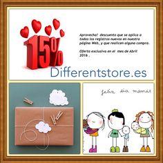 Que no te quedes sin tu regalo para Mamá ...  http:www.differentstore.es/