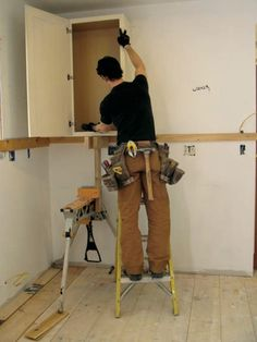 8 best how to install kitchen cabinets images installing kitchen rh pinterest com