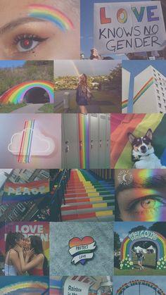 Lgbt Eye Makeup bts v eye makeup tutorial Gay Aesthetic, Aesthetic Collage, Wallpaper Backgrounds, Iphone Wallpaper, Rainbow Wallpaper, Lgbt Love, Rainbow Aesthetic, Taste The Rainbow, Cute Gay