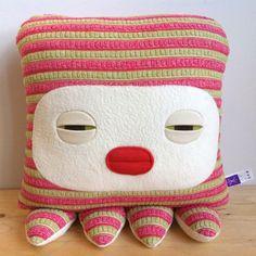 Velvet Moustache :) sleepy pillows love this  Octopus