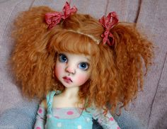 Tibetan Lambskin Mohair Wig Fit Kaye Wiggs Layla Miki Nyssa Tobi BJD Doll 20 | eBay