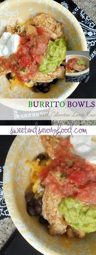 Burrito Bowls with Cilantro Lime Rice | Everything Pretty