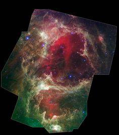 W5 Star Formation Region. Image credit: NASA/JPL-Caltech/L. Allen & X. Koenig (Harvard-Smithsonian CfA)