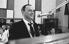 Frank Sinatra in the studio recording September of My Years, photographed by Ed Thrasher, 1965