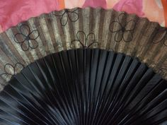 MADE TO ORDER Black and Gold Wooden Hand Fan with by DengraDesigns, $24.95