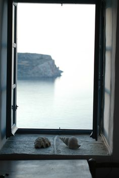 """view from the """"Grape Press house"""" Kastro, Sifnos, Cyclades, Greece Window View, Open Window, Wonderful Places, Beautiful Places, Greece Sea, Island Villa, Magic Island, Places In Greece, What A Beautiful World"""