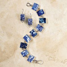 Blue Willow Ceramic Earrings | National Geographic Store