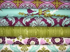 AVIARY 2 Collection /  Joel Dewberry Fabric / 6 Half Yard  Bundle  Cotton Quilt Fabric. $28.50, via Etsy.
