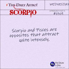 Scorpio Daily Astro!: You can get a free astro birth chart online.   Visit iFate.com today! Scorpio Daily, Daily Astrology, Sagittarius Astrology, Pisces And Scorpio, Pisces Love, Pisces Quotes, Astrology And Horoscopes, Scorpio Facts, Zodiac Facts