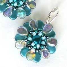 PIP FLOWER EARRINGS - Free Jewelry Making Project complements of Bead Smith(R)