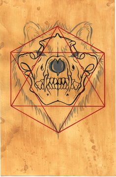 11 X 17 Sacred Totem Print Wolf Skull Limited by UniversalRites. $30.00, via Etsy.