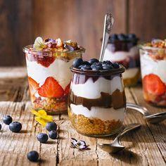 Macarons, Acai Bowl, Cookie Recipes, Panna Cotta, Cheesecake, Pudding, Cookies, Chocolate, Breakfast