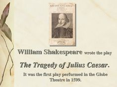 a literary analysis of the tragedy of julius caesar by william shakespeare Welcome to the litcharts study guide on william shakespeare's julius caesar  created by  in-depth summary and analysis of every scene of julius caesar.