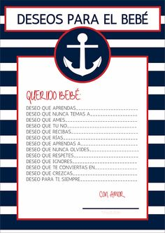 games_for_baby_shower_wish_for_the_beach_nautico. Fiesta Baby Shower, Baby Shower Games, Baby Shower Parties, Juegos Baby Shower Niño, Baby Shower Invitaciones, Bebe Shower, Baby Boy Shower, Baby Shower Marinero, Nautical Baby