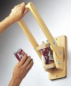 Manual Can Crusher Plans - Full Sized Trace & Cut Woodcraft Patterns & Instructions