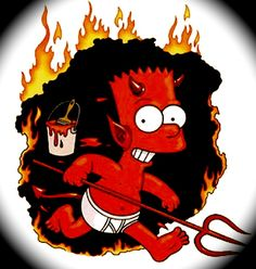 Uh-oh! You better watch out because Bart Simpson the devil is about to ruin your day!