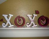 valentines day mantel idea