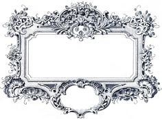 Blue Gorgeous Baroque Frame Images - The Graphics Fairy × (scaled to × Graphics Fairy, Vintage Paper, Vintage Art, Vintage Clip, Baroque Frame, Printable Frames, Frame Clipart, Borders And Frames, Vintage Labels