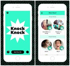 No more social awkwardness. Knock Knock allows users to exchange contact information and links to social networks with people nearby by simply tapping on the screens of their phones