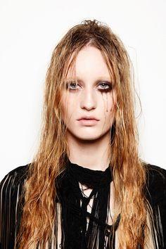 Half Done Face Makeup, Lipstick, 60s Hair Wigs, Mascara running, Stylist France Beauty Editorial Enya Bakunova | NEW YORK FASHION BEAUTY PHOTOGRAPHER- EDITORIAL COMMERCIAL ADVERTISING PHOTOGRAPHY