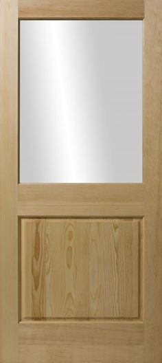 3 panel flat mission style door crossmore from craftmaster for Darpet