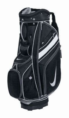 Nike Sport II Cart Golf Bag, Black/Sail/Anthracite by Nike. $134.16. The Nike Sport Cart II features a 9.5 inch oval top with 14 way dual sided top. This bag offers a lightweight and durable construction. Includes 10 functional pockets, 7 are zippered. An integrated tee holder, pen sleeve and glove patch are included. A matching rain hood is also included.