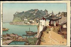 Artist Hiroshi Yoshida -- the Japanese discover Tourism.  This was taken in China.