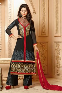 Look Graceful with New Urvashi Rautela Black Faux Georgette Salwar Kameez Shop now @ http://zohraa.com/salwar-kameez/suits-dresses/celebrity-suits/black-faux-georgette-salwar-kameez-z1577p9004-2.html sku : 58819  Rs. 3,449 #salwarsuits #suitsonline #salwarkameez #suits