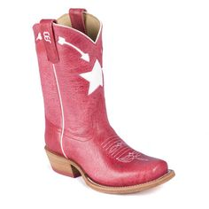 Anderson Bean Red Star Kids Boots with traditional western styling are perfect for your shooting star!