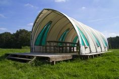 Recycled Greenhouse Pavilion - Dutch Countryside | Inhabitat