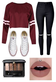 """""""Active Again 😜"""" by gabriella-1072 ❤ liked on Polyvore featuring Converse and Guerlain"""