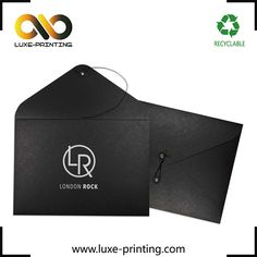 Custom logo printed black kraft paper passport photo envelope with string and button closure, View Photo envelope , Luxe Printing - Photo envelope Product Details from Cangnan YZM Trade Co., Ltd. on Alibaba.com