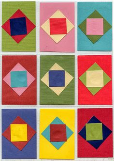 Art Projects for Kids: Paper Quilt ATCs