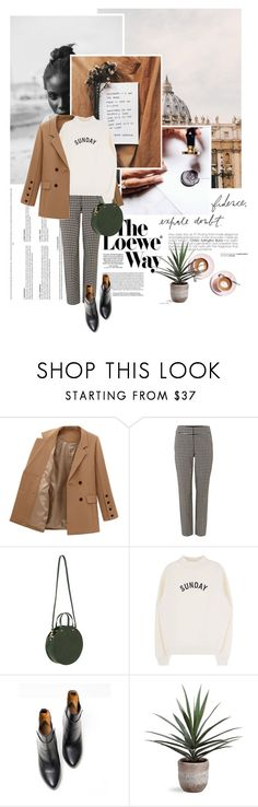 """""""S U N D A Y"""" by mutsam17 ❤ liked on Polyvore featuring Loewe, Trouvaille, Phase Eight, Clare V. and Balenciaga"""