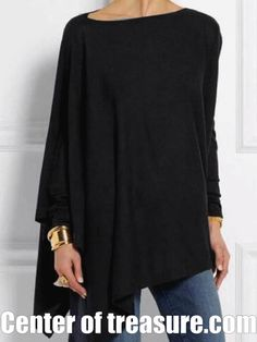 Round Neck Long Sleeve Cotton-blend Shirts & Tops For Women Casual Blouse Mode Outfits, Casual Outfits, Fashion Outfits, Casual Shirts, Girl Outfits, Look Fashion, Winter Fashion, Fast Fashion, Steampunk Fashion