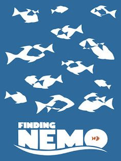 This is a great example of visual language as it is a clear and simplified version of the movie poster finding Nemo. I like this example as it is simple yet effective whilst also being very clear and concise.
