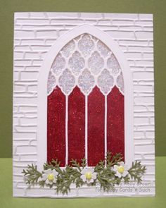 Christmas Stained Glass Window by ClassyCards - Cards and Paper Crafts at Splitcoaststampers