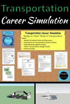 """Middle School Career Exploration - Transportation. Learn about the transportation and logistics careers in these 3 lessons: design an """"ideal"""" form of transportation. Includes instructions, expectations, rubric, teacher resources, research projects and s"""