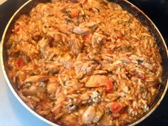 Greek Recipes, Quick Meals, Paella, Fried Rice, Chicken Recipes, Recipies, Spaghetti, Cooking Recipes, Ethnic Recipes