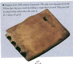 Panpipes, from York, England.  Viking age.