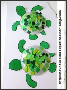 un bricolage de tortue simple et beau!