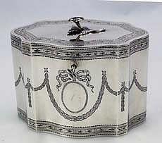 Sterling Tea Caddy - Howard & Son 1900