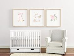 You've saved pictures of your favorite nurseries, tested out every chair at Babies r' Us and worked hard to get everything just right before your little one arrives. These high quality art prints are easy to print at home but look like you bought them from a local baby boutique. No