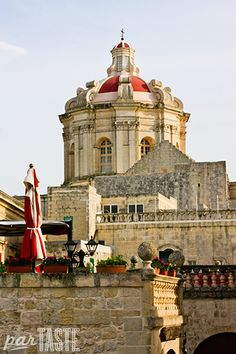 Fontanella is one of the best places to stop for a snack or coffee and enjoy panoramic views over the Maltese countryside in Mdina, Malta